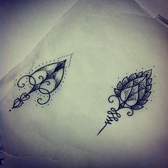 minimalist geometric tattoos | (Taken with Instagram at True Love Tattoo)