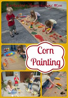 Corn painting activity for fall