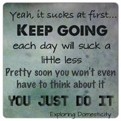 Exploring Domesticity: #Fitness #Motivation
