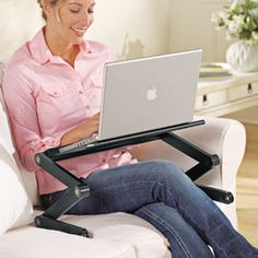 Work comfortably in any position, from sitting to reclining.