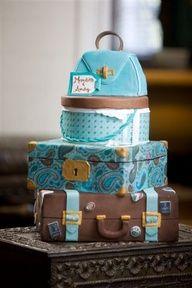 Travel-themed cake