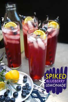 Spiked Blueberry Lemonade //shutterbean