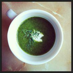 Creamy Watercress Soup with Lemon-Goat Cheese Dumplings via @cassandra howard