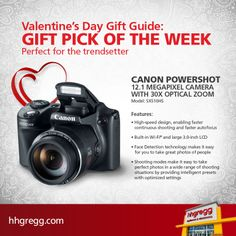 Shopping for the trendsetter in your life doesn't have to be a challenge, and this #Canon Powershot is the perfect Valentine's Day gift for your stylish loved one http://hhgre.gg/1jCpbUV