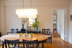 Capiz Pendant Chandelier from west elm via @Apartment Therapy