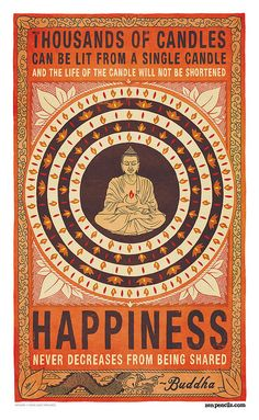 #happiness never decreases from being shared