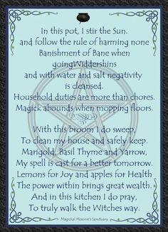 Kitchen witch prayer