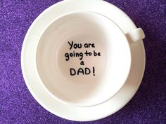 Pregnancy announcement cup you are going to be a dad by Gliadesign