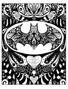 Batman Fan Art, Super Hero Batman Doodle Art One of a kind, 8x10 image printed on an 8.5x11 ready to frame on Etsy, $12.00