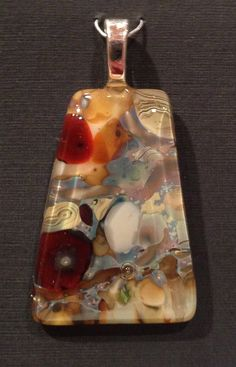 Stream Bed Fused Glass PENDANT OOAK