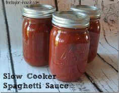 Slow Cooker Recipes: Homemade Spaghetti Sauce #slowcooker #homemadespaghettisauce