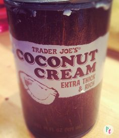 coconut cream review from Trader Joes