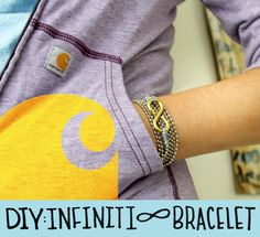 DIY infinit bracelet from the hardware store.