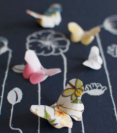 {go make me} origami butterflies diy project