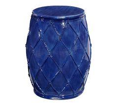 Net Ceramic Accent Table #potterybarn