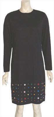 S. Roberts Black Vintage 80s Dress
