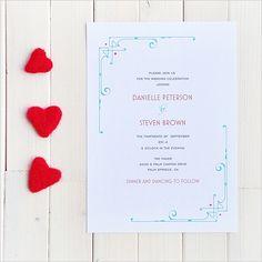 Art Deco Free Printable Wedding Invitation Suite