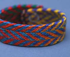 woven band in zigzag pattern using tablet weaving by ThornFiberArts