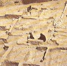 Jarmo Settlement: Mesopotamia, 7090-4950 BC. The world's first agricultural community, consisting of a permanent settlement of about 150 people, Jarmo is also one of the oldest sites where pottery has been found. It is located in N Iraq in the foothills of Zagros Mtns E of Kirkuk City, on app 3-4 acres. It lies at an altitude of 2600' above sea level in a belt of oak / pistachio woodlands