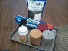 Epsom Salt Candles!