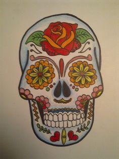 Mexican Sugar Skull by Cazanova902.deviantart.com on @deviantART