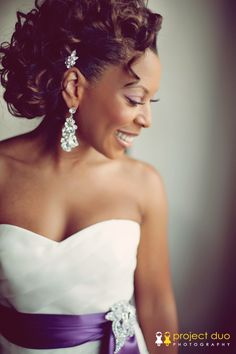 Beautiful wedding photo idea. Check out that Flawless make-up ツ \\ Photo Credit: Project Duo Photography