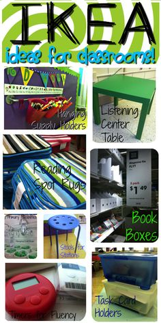 Great, cheap ideas for using IKEA products in the classroom.  Time to go shopping! Primary Possibilities