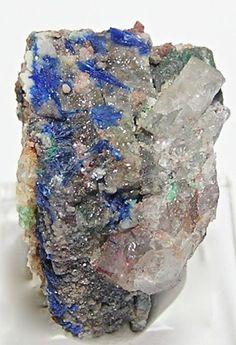Rare Blue Linarite Crystals Specimen New Mexico