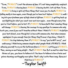 well said taylor