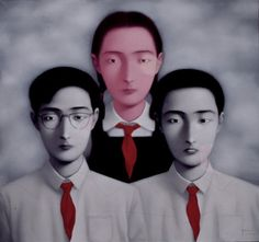 "Zhang Xiaogang, ""Big Family"" (1996) 