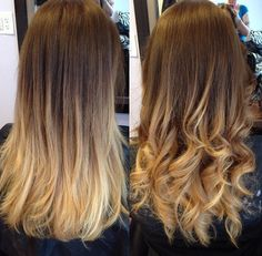 Ombre hair...my hair will look like this naturally in a few months since I am growing out my natural color.