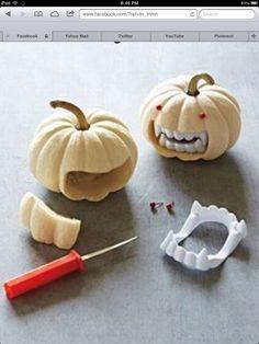 decor, holiday, craft, idea, vampires, stuff, pumpkins, vampir pumpkin, halloween