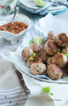 Ginger Garlic Meatballs @Reem Rizvi
