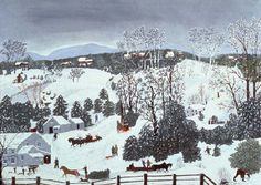 Out for Christmas Trees by Grandma Moses (1946)