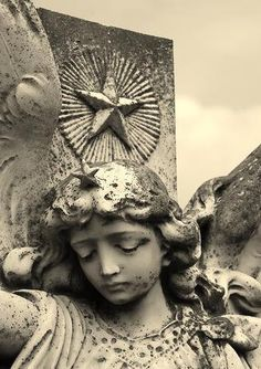 sweet angel, stone angel, stars, cemeteri, starri angel, angel star, stone woman, stones, angels