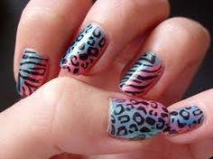 #nails #zebra #leopard