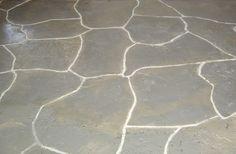 faux painted concret floors....
