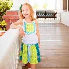 Yoga Waist Knit Twirl Skirt - Sizes 2-12