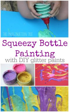 Squeezy Bottle Painting - The Imagination Tree