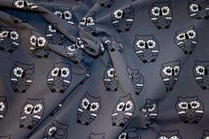 Musegrå jersey med søde ugler