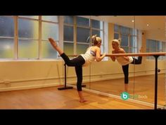 Barre Body combines yoga, pilates and ballet barre conditioning to tone your entire body. In this 10 minute video, Barre Body's founder, Emma Seibold demonstrates a sequence of five exercises designed for body+soul to help you get a dancer's body at home. - also, portable barre would be a great addition to a home gym ;)