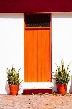 what a fantastic yellow orange!  Door in Mexico.