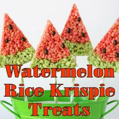 Watermelon Rice Krispie Treats summer list, rice crispi, watermelon rice krispies, treat preppyplann, watermelon rice krispie treats, food, krispi treat, watermelons