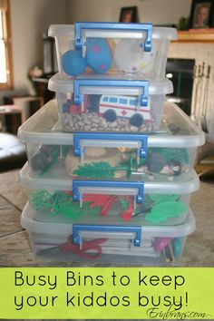 Simple Toddler Busy Bins