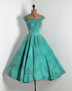50's teal dress