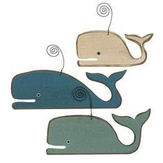 Wood Whale Ornaments