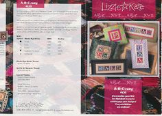 JOY TO ALL: Lizzie Kate #135 A-B-Crazy #K45 ABC's of Aging Artfully #K52 ABC's of Parenting #K38 ABC Lessons