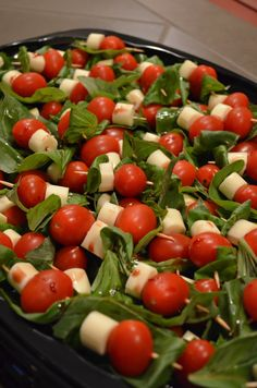 Possible wedding appetizers (Clark approved) ... Easy Caprese Appetizers - DIY Savvy Home