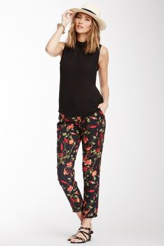 joie, summer styles, hautelook, fashion, floral pant, shaelyn floral, cloth, outfit, spring style
