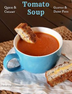 Creamy Gluten Free and Dairy Free Tomato Soup - The Baking Beauties